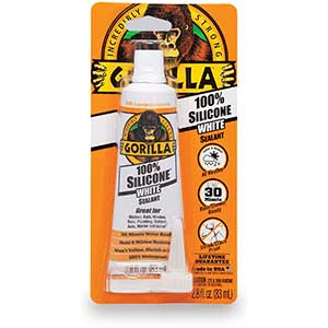 Gorilla Silicon Removable Caulk | White | Resist water & mildew