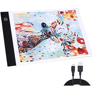 Kusmil Light Pad for Diamond Painting | A4 LED | Ultra-Thin