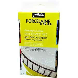 Pebeo 150 Porcelain Paint | Set of 12 | Fast Dry | Multi-resistance