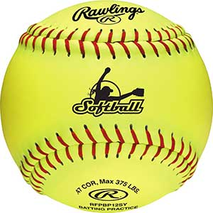 Rawling Official Fastpitch Softballs | 12″ | Flat Seams | Synthetic