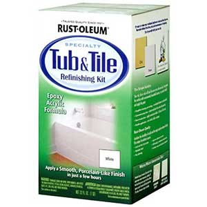 Rust-Oleum Porcelain Paint | Tub & Tile | 2-Part Kit | White