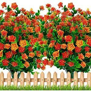 Axylex Outdoor Artificial Flowers | 6 Pieces Bundle