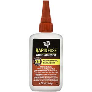 DAP Rapid Fuse Glue for Cutting Boards | Fast-Dry | 4oz