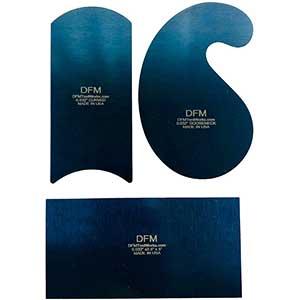 DFM Cabinet Scraper | Blue Curved | 0.81 mm