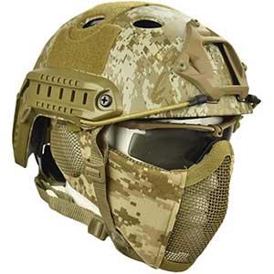Jadedragon Ballistic Helmet | Foldable | Mask, And Goggle