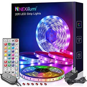 Nexillumi LED Strip Lights/ Music Sync/ Mic Control/ 20""