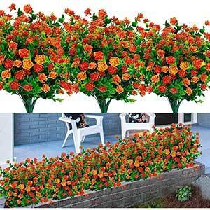 Turnmeon Outdoor Artificial Flowers | UV Resistant Plants