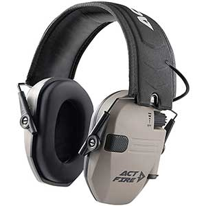 ACT FIRE Electronic Ear Muffs For Shooting | Resist UV | NRR 23dB