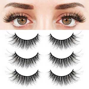 BEPHOLAN Lashes For Small Eyes | Synthetic Fibre | Three Pairs