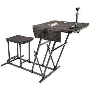 Kill Shot Shooting Bench | Seat & Adjustable Table | Gun Rest