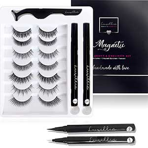 Luxilla Lashes For Small Eyes | Magnetic Kit | Seven Pairs
