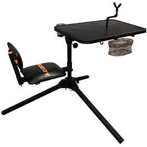 Muddy Xtreme Shooting Bench | Comfortable Seat & Tabletop