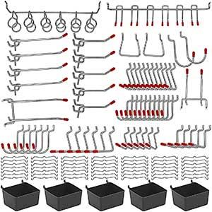 NAVSEEK Metal Pegboard Hooks Set | System Tools | 114 pcs