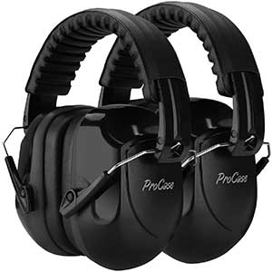 ProCase Ear Muffs For Shooting | NRR 28dB | 2 Pack