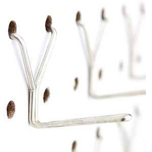 "Stainless Steel Pegboard Hooks | 50-Pack | 1"" L Hook"