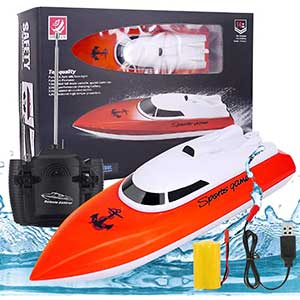 BESWORLDS RC Boat for Pool | Auto Flip Recovery | 20+mph