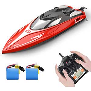 DEERC H120 RC Boat for Pool | 20+mph | Capsize Recovery