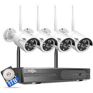 Hiseeu Long Range Wireless Security Camera System | IP Camera