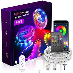 MICOMLAN LED Strip Lights | 50 Ft/15M