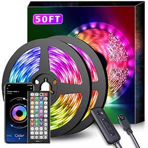 MMIZOO LED Strip Lights Sync with Music | Multipurpose | 32.8 Ft