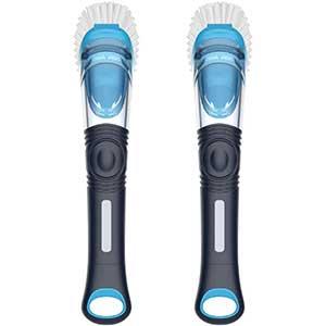 MR. SIGA Soap Dispensing Dish Brush | Replaceable head | Navy/Blue