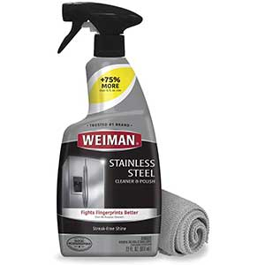 Weiman Stainless Steel Scratch Remover| Microfiber Cloth