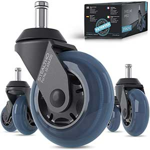 STEALTHO Office Chair Wheels For Carpet | Efficient