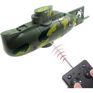 Tipmant Mini RC Submarine | Military Model | Waterproof | Green