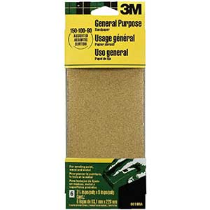 3M General Purpose Sandpaper for Removing Paint from Wood