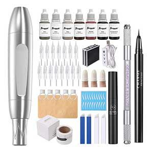 Charme Microblading Kit | 15pcs Cartridge Needles | 7pcs Pigments