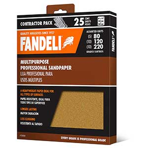 Fandeli Assorted Grit Sandpaper for Removing Paint from Wood