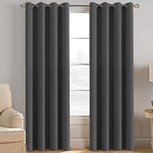 H.Versailtex Thermal Curtains for Patio Door | Copper Grommets