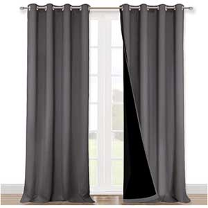 Nicetown Thermal Curtains for Patio Door | Easy Care | Imported