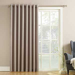 Sun Zero Barrow Thermal Curtains for Patio Door | Pull Wand