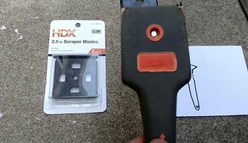 How to sharpen a paint scraper